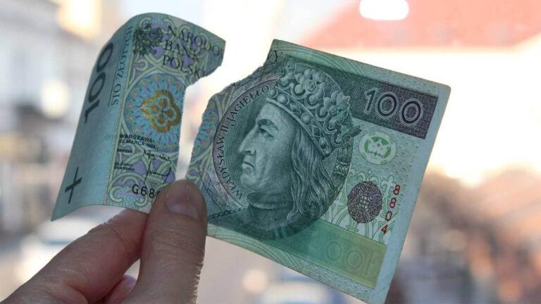 Podarte i uszkodzone banknoty